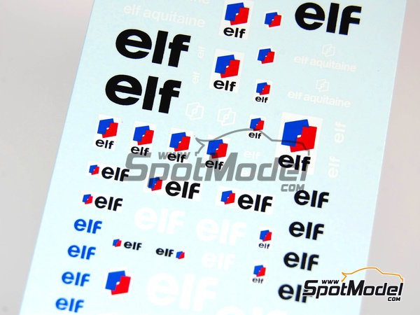 Image 2: ELF | Logotypes in 1/43 scale manufactured by Virages (ref.VIR-098)