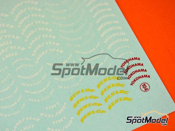 Image 3: BF Goodrich, Good Year, Firestone, Pirelli, Michelin, Dunlop, Yokohama | Logotipos en escala1/24 fabricado por Virages (ref.VIR-104)