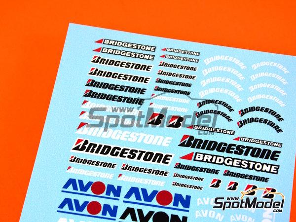 Image 1: Avon Bridgestone | Logotipos en escala1/24 fabricado por Virages (ref.VIR-182)