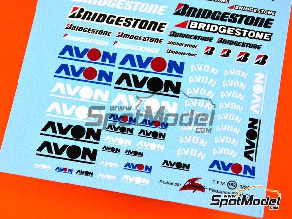 Image 2: Avon Bridgestone | Logotipos en escala1/24 fabricado por Virages (ref.VIR-182)