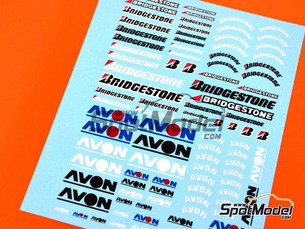 Image 3: Avon Bridgestone | Logotipos en escala1/24 fabricado por Virages (ref.VIR-182)