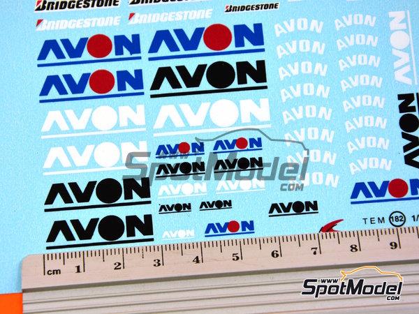 Image 5: Avon Bridgestone | Logotipos en escala1/24 fabricado por Virages (ref.VIR-182)