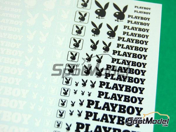 Image 3: Playboy | Logotipos en escala1/24 fabricado por Virages (ref.VIR-257)