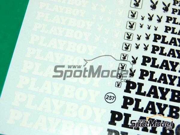 Image 4: Playboy | Logotipos en escala1/24 fabricado por Virages (ref.VIR-257)