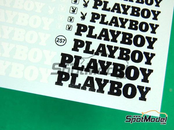 Image 5: Playboy | Logotipos en escala1/24 fabricado por Virages (ref.VIR-257)