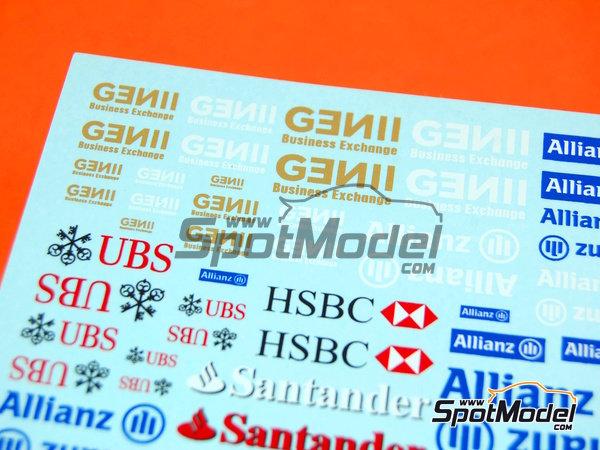 Image 3: Ing Direct, Allianz, HSBC, UBS, Banco Santander, Genii, Master Card | Logotypes in 1/24 scale manufactured by Virages (ref.VIR-264)
