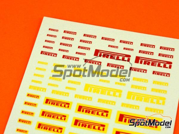 Image 1: Pirelli logos | Logotipos en escala1/24 fabricado por Virages (ref.VIR-270)