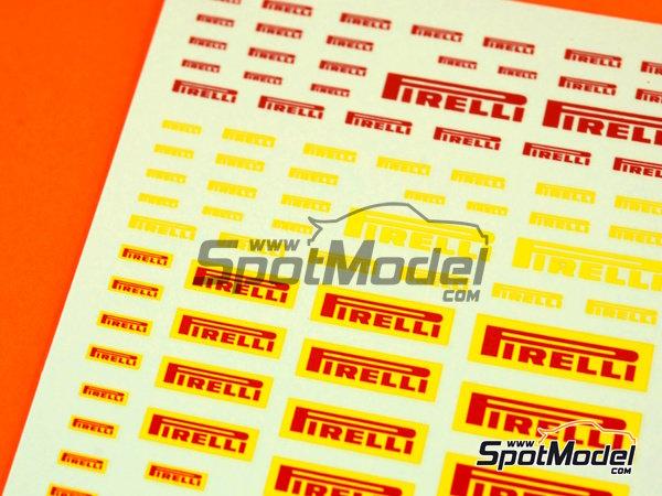 Image 2: Pirelli logos | Logotipos en escala1/24 fabricado por Virages (ref.VIR-270)