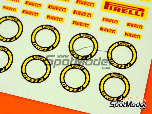 Image 4: Pirelli logos | Logotipos en escala1/24 fabricado por Virages (ref.VIR-270)
