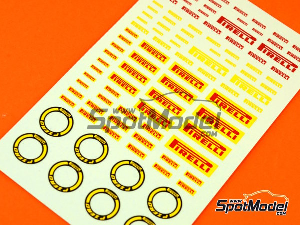 Image 5: Pirelli logos | Logotipos en escala1/24 fabricado por Virages (ref.VIR-270)