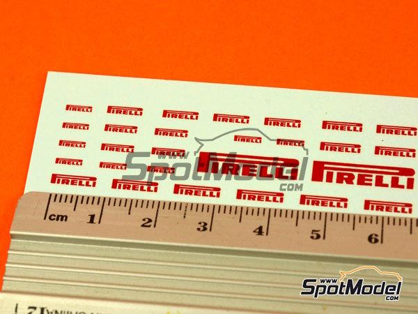 Image 6: Pirelli logos | Logotipos en escala1/24 fabricado por Virages (ref.VIR-270)