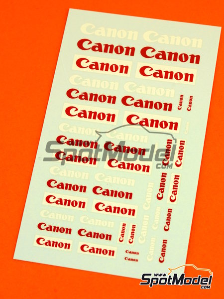 Canon | Logotypes in 1/24 scale manufactured by Virages (ref.VIR-277) image