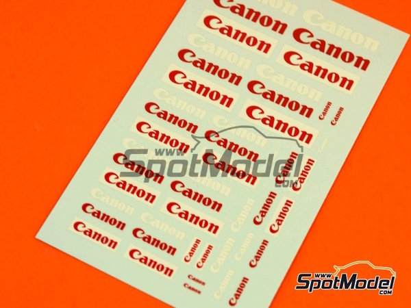 Image 2: Canon | Logotypes in 1/24 scale manufactured by Virages (ref.VIR-277)