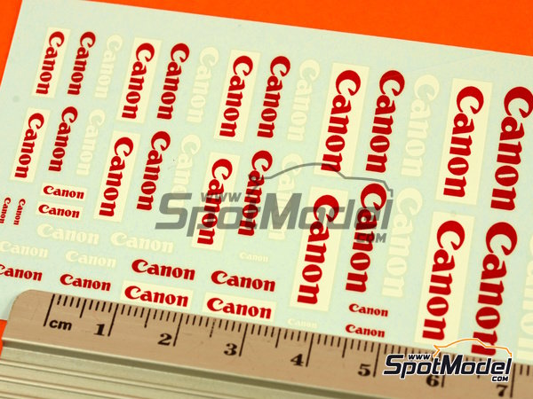 Image 3: Canon | Logotypes in 1/24 scale manufactured by Virages (ref.VIR-277)