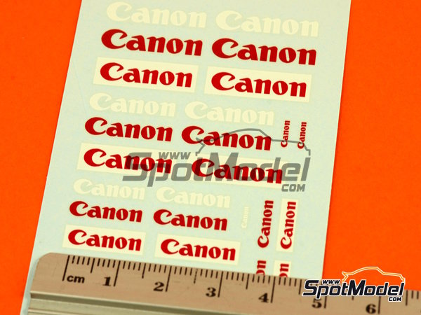 Image 4: Canon | Logotypes in 1/24 scale manufactured by Virages (ref.VIR-277)