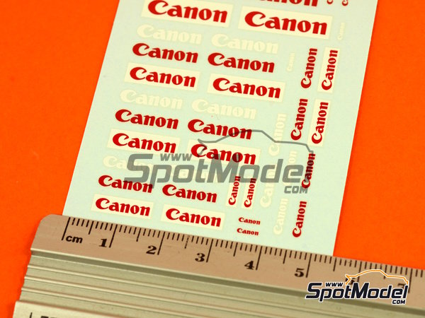 Image 5: Canon | Logotypes in 1/24 scale manufactured by Virages (ref.VIR-277)