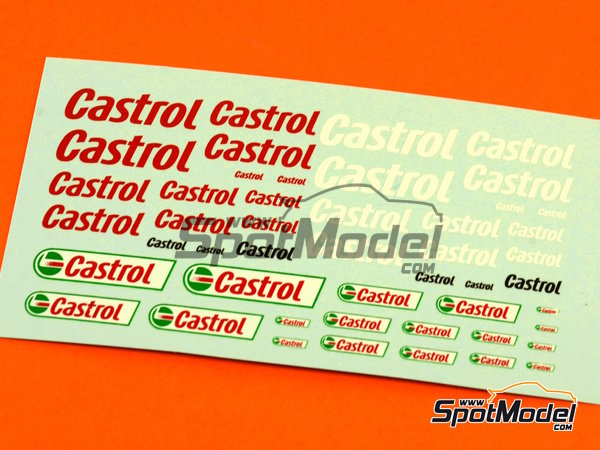 Image 1: Castrol | Logotypes in 1/24 scale manufactured by Virages (ref.VIR-281)