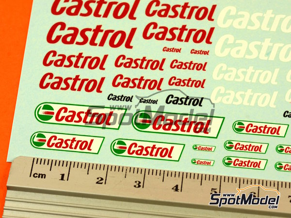 Image 4: Castrol | Logotypes in 1/24 scale manufactured by Virages (ref.VIR-281)