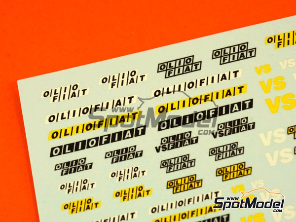 Image 2: Fiat Olio | Logotypes in 1/43 scale manufactured by Virages (ref.VIR-286)