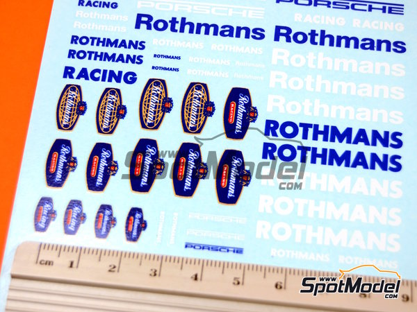 Image 2: Rothmans Porsche | Logotypes in 1/24 scale manufactured by Virages (ref.VIR-296)