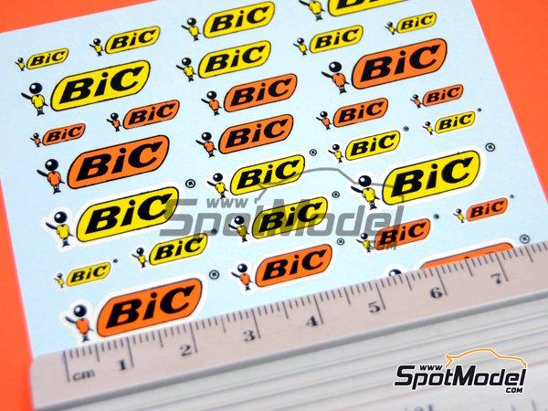 Image 2: BIC | Logotipos en escala1/24 fabricado por Virages (ref.VIR-302)