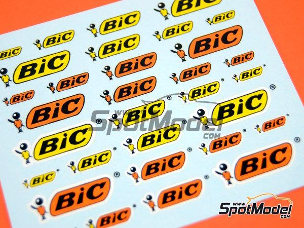 Image 4: BIC | Logotipos en escala1/24 fabricado por Virages (ref.VIR-302)