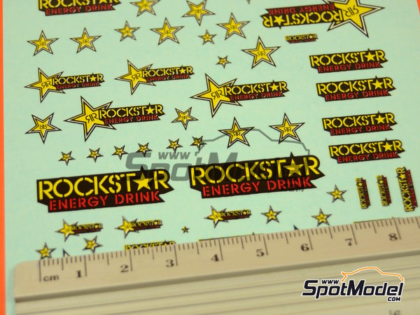 Image 2: RockStar Energy Drink | Logotypes in 1/24 scale manufactured by Virages (ref.VIR-307)
