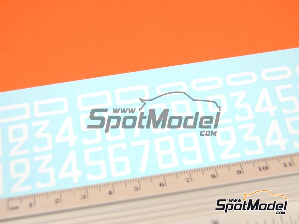 Image 2: White numbers | Decals in 1/24 scale manufactured by Virages (ref.VIR-315)