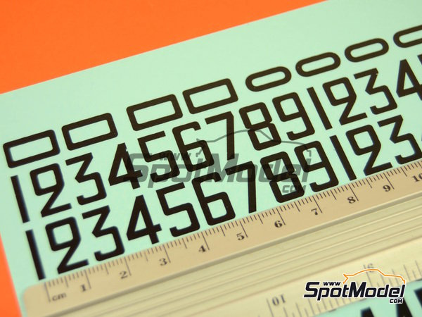 Image 3: Black numbers | Decals in 1/24 scale manufactured by Virages (ref.VIR-319)