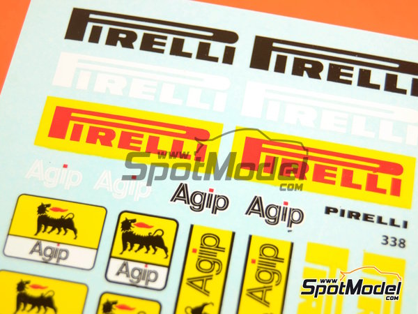 Image 1: Pirelli Agip | Logotypes in 1/20 scale manufactured by Virages (ref.VIR-338)