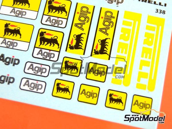 Image 2: Pirelli Agip | Logotipos en escala1/20 fabricado por Virages (ref.VIR-338)