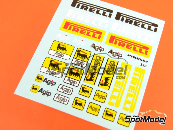 Image 3: Pirelli Agip | Logotypes in 1/20 scale manufactured by Virages (ref.VIR-338)