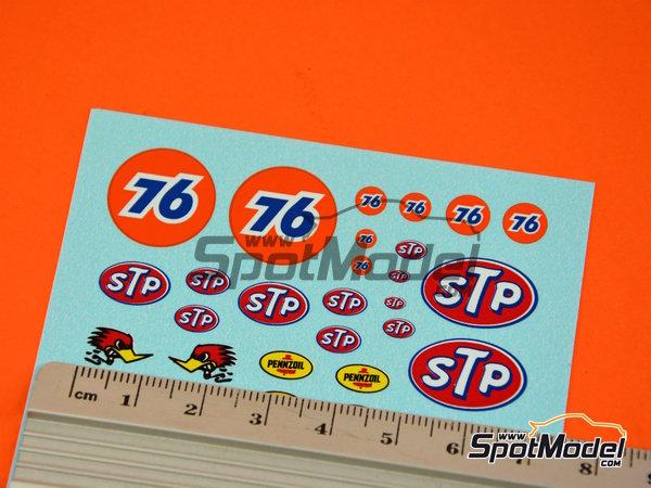 Image 4: STP, Empi, Pennzoil, Simpson   Logotipos en escala1/24 fabricado por Virages (ref.VIR-347)