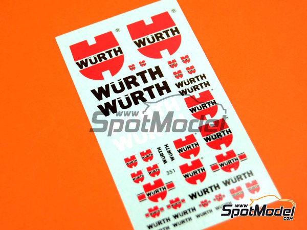 Image 1: Würth | Logotypes in 1/24 scale manufactured by Virages (ref.VIR-351)