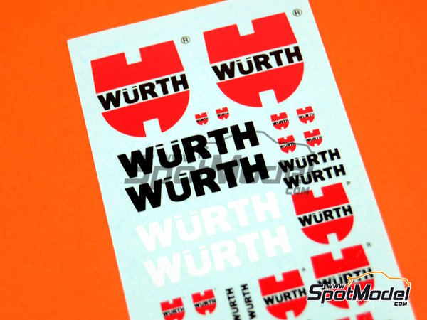 Image 2: Würth | Logotypes in 1/24 scale manufactured by Virages (ref.VIR-351)