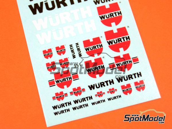 Image 3: Würth | Logotypes in 1/24 scale manufactured by Virages (ref.VIR-351)