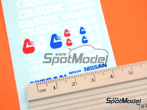 Image 5: Nissan Calsonic | Logotypes in 1/24 scale manufactured by Virages (ref. VIR-355)