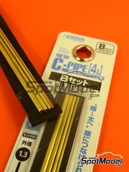 Set de tubos de 1,3 mm, 1,8 mm, 2,3 mm y 2,8mm x 130mm   Material fabricado por Wave Corporation (ref.OP-587) image