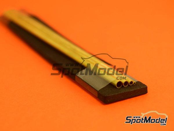 Image 2: Set de tubos de 1,3 mm, 1,8 mm, 2,3 mm y 2,8mm x 130mm   Material fabricado por Wave Corporation (ref.OP-587)
