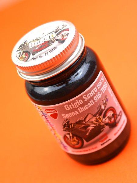 Gris oscuro Ducati para 916 y 1199 Panigale - Senna Grey for Ducati - Grigio Scuro - Code: DUC37 - 1 x 60ml | Pintura fabricado por Zero Paints (ref.ZP-1005-GRIGIO-DUC37) image