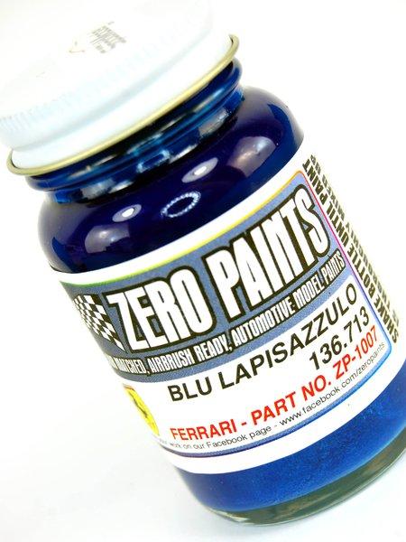 Azul Lapis Ferrari - Ferrari Blu Lapisazzulo - Code: 136.713 - 1 x 60ml | Pintura fabricado por Zero Paints (ref.ZP-1007-136.713) image