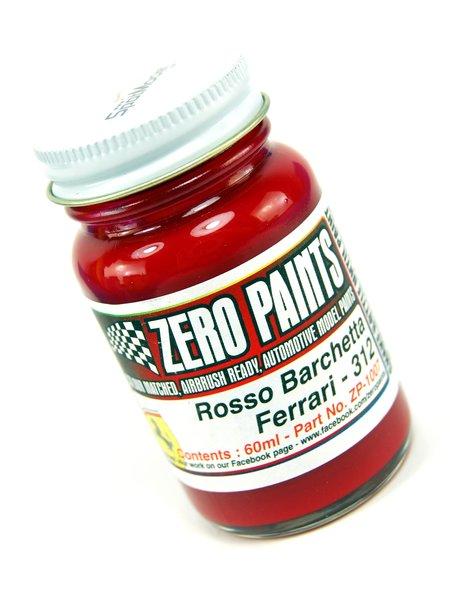 Ferrari 312 Rosso Barchetta - Red - Code: 312 - 1 x 60ml | Paint manufactured by Zero Paints (ref.ZP-1007-312) image