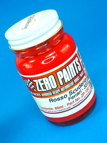 Rojo Ferrari Rosso Scuderia - Código: 323 - 1 x 60ml | Pintura fabricado por Zero Paints (ref.ZP-1007-323) image