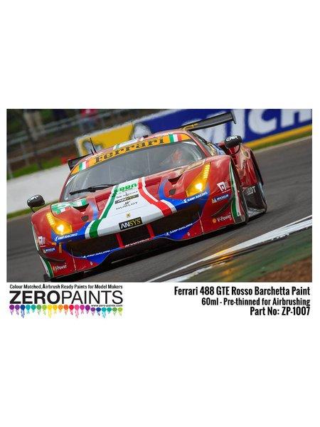 Ferrari 488 GTE AF Corse Rosso Barchetta 312 - 1 x 60ml | Paint manufactured by Zero Paints (ref.ZP-1007-488GTE-312) image