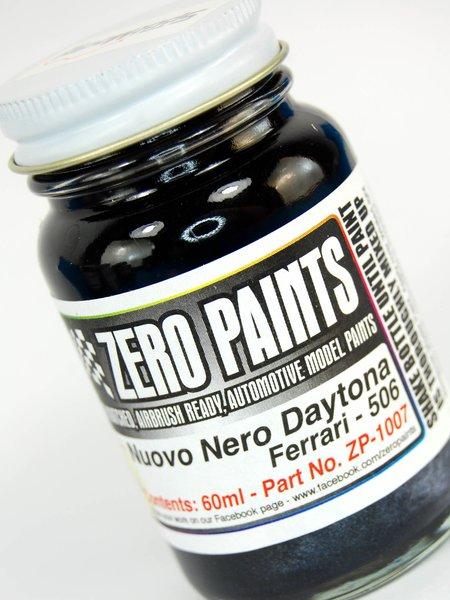 Negro metalizado Ferrari Nuovo Nero Daytona Metallic - Codigo: 506 - 1 x 60ml   Pintura fabricado por Zero Paints (ref.ZP-1007-506) image
