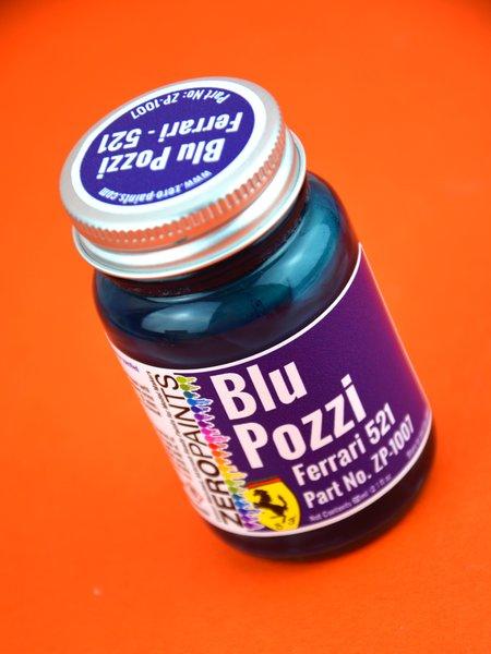 Ferrari Blu Pozzi Blue - Code: 521 - 60 ml | Paint manufactured by Zero Paints (ref.ZP-1007-521) image