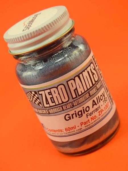 Ferrari Grigio Alloy - Silver  Met - Code: 750 - 1 x 60ml | Paint manufactured by Zero Paints (ref.ZP-1007-750) image