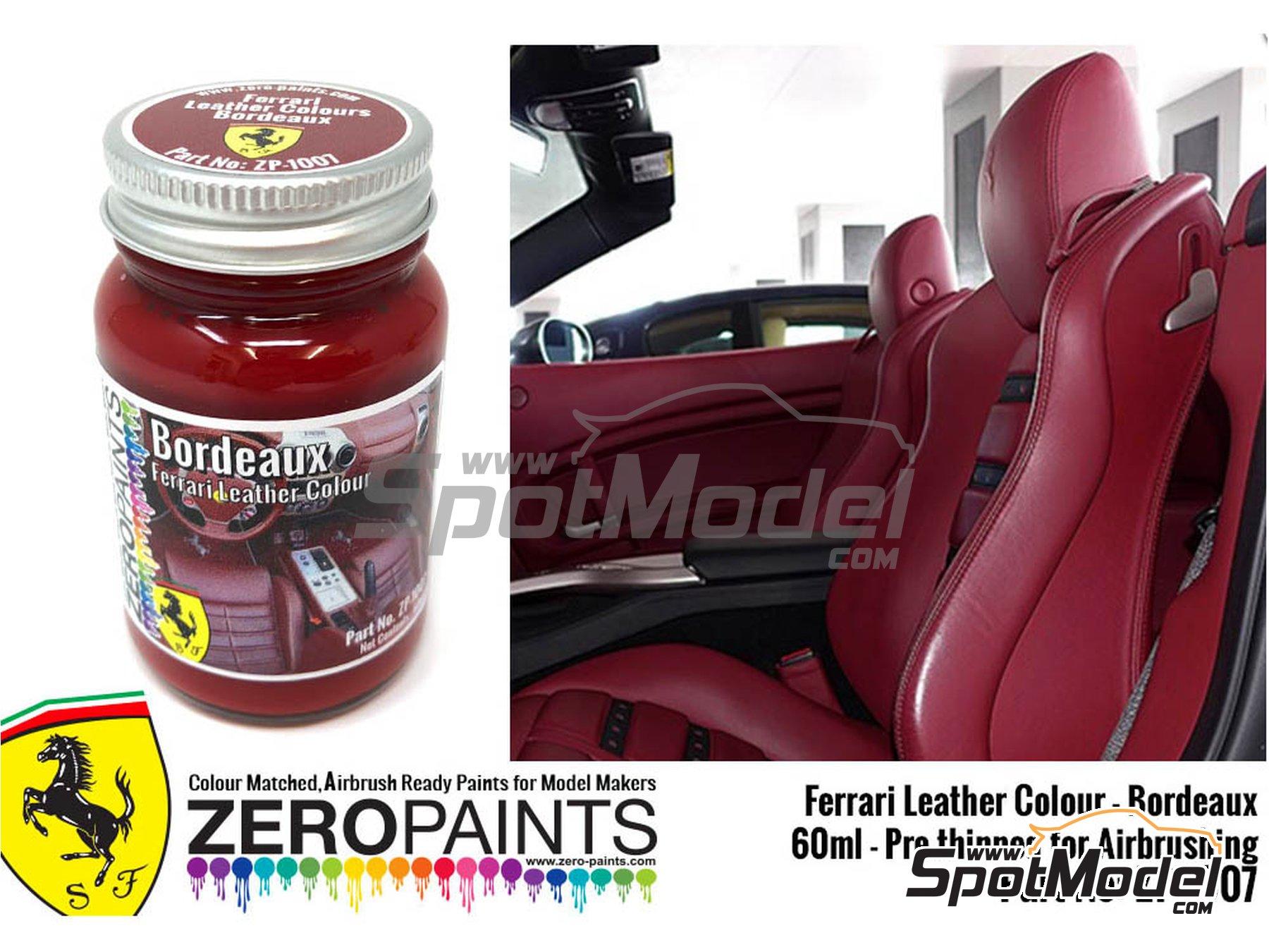 Image 2: Ferrari leather colour Bordeaux - 1 x 60ml | Paint manufactured by Zero Paints (ref.ZP-1007-7754-01)