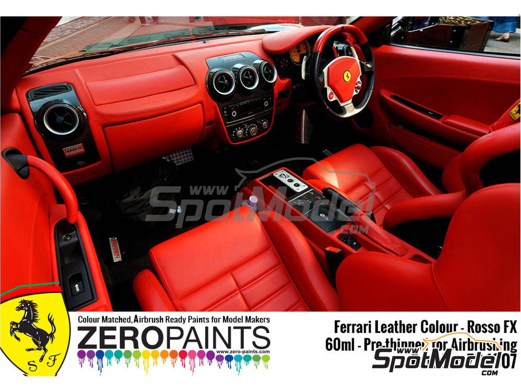 Image 2: Ferrari leather colour Rosso FX | Paint manufactured by Zero Paints (ref. ZP-1007-7754-02)