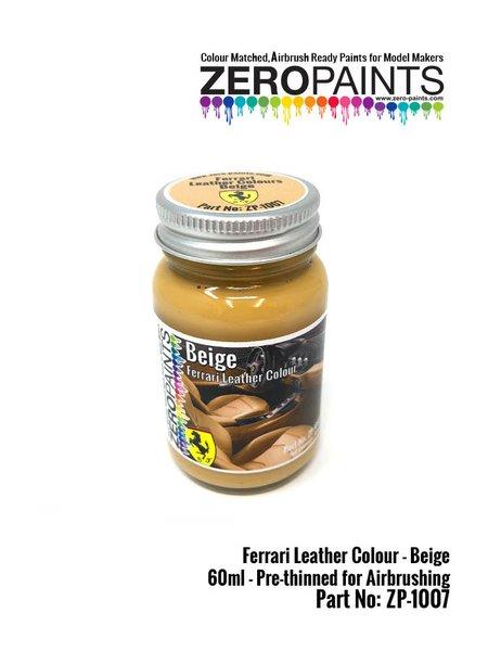Ferrari leather colour beige - 1 x 60ml | Paint manufactured by Zero Paints (ref.ZP-1007-7754-03) image